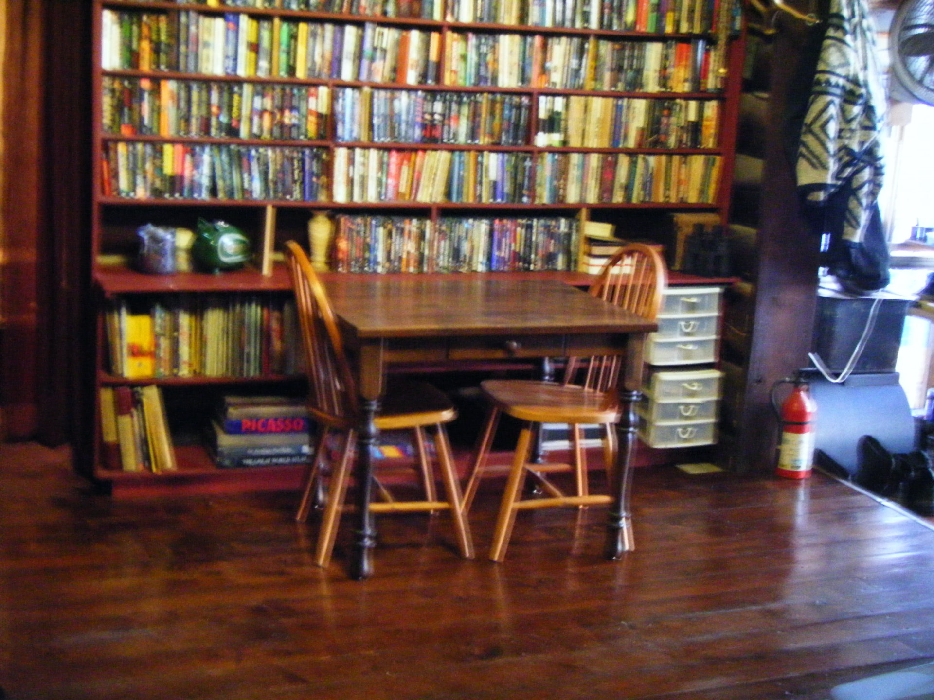 Dining area and partial library